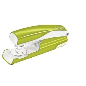 Leitz 55022064 Büroheftgerät Nexxt, Metall, 30 Blatt, Blisterverpackung, grün metallic