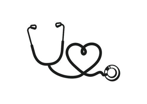 2-Stethoscope-Heart-Nurse-Black-Vinyl-Car-Sticker-Symbol-Silhouette-Keypad-Track-Pad-Decal-Laptop-Skin-Ipad-Macbook-Window-Truck-Motorcycle