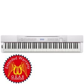 Casio Privia Px-350 88-Key Digital Piano With Gear Guardian Extended Warranty - White