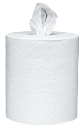 Scott Roll Control Center Pull Paper Towels (01032) with Fast-Drying Absorbency Pockets, Perforated Full-Sized Hand Paper Towels, White (6 rolls per case, 700 sheets per roll, 4,200 sheets total)