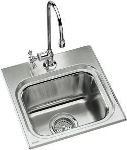 Buy KOHLER Ballad Self-Rimming Entertainment Sink, #K-3262-2-NA (Kohler Sinks, Plumbing, Sinks, Bar)