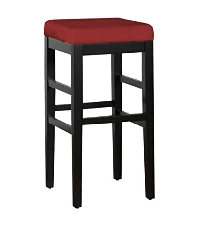 Armen Living Sonata 30 Stationary Barstool, Red