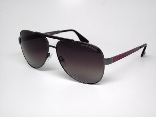 Emporio Armani Men's 9694 Brown / Burgundy Frame/Brown To Pink Lens Metal Sunglasses