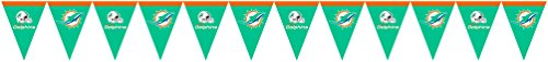 Creative Converting Miami Dolphins Flag Banner Decoration