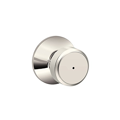 Schlage F40 BWE 618 Bowery Knob Bed and Bath, Polished Nickel (Schlage Door Knobs Bed And Bath compare prices)