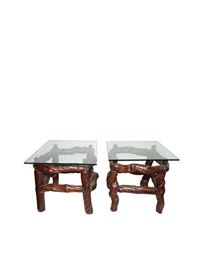 Uptown Down Set of Rustic Side Tables