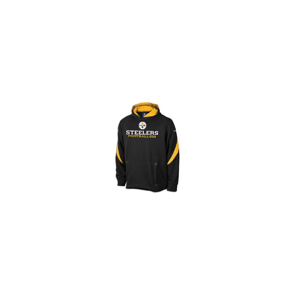 new concept 8f6d2 db7c7 Nike Mens Pittsburgh Steelers Ko Full Zip Hooded Sweatshirt