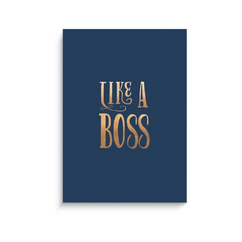 "Lucy Darling Gold Like A Boss Wall Decor, Navy, 8"" x 10"""