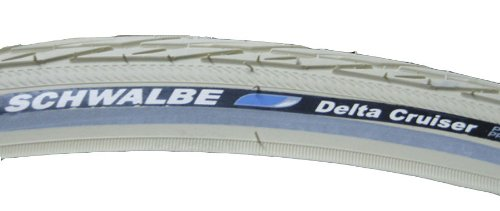 Schwalbe Delta Cruiser HS 392 Bicycle Tire (26x1 3/8, SBC Wire Beaded, Cream)