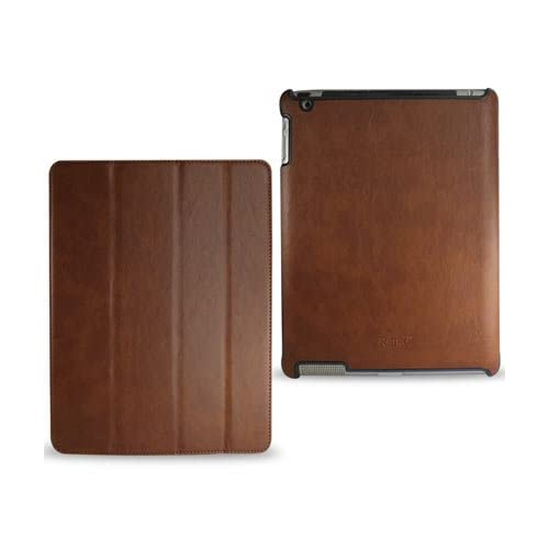 For Apple Ipad2 Fitting PU Leather case with Flip Stand Screen Cover (Brown) + 1x Screen Protector