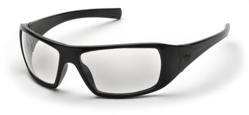 Pyramex Goliath Safety Eyewear, Clear Lens With Black Frame