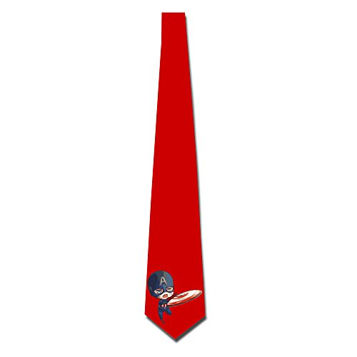 HANDSOMEFEEL Catrtoon Captain America Neck Suits Tie Skinny Tie