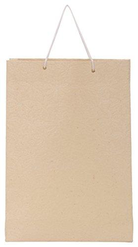 Utsav Kraft Paper 3 Ltrs Cream Reusable Shopping Bags