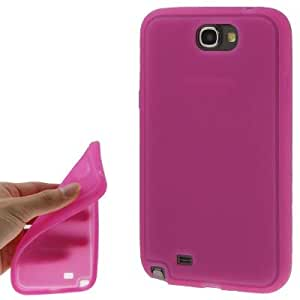 Pure Colour Smooth Ultrathin Silicon Case for Samsung Galaxy Note 2 N7100(Magenta)