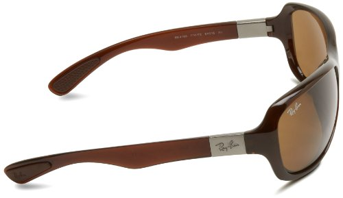 Ray-Ban 0RB4189 714/73 Wrap Sunglasses,Shiny Brown,64 mm