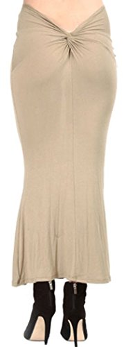 PEGGYNCO-Womens-Khaki-Back-Tie-Knot-Maxi-Skirt-One-Size