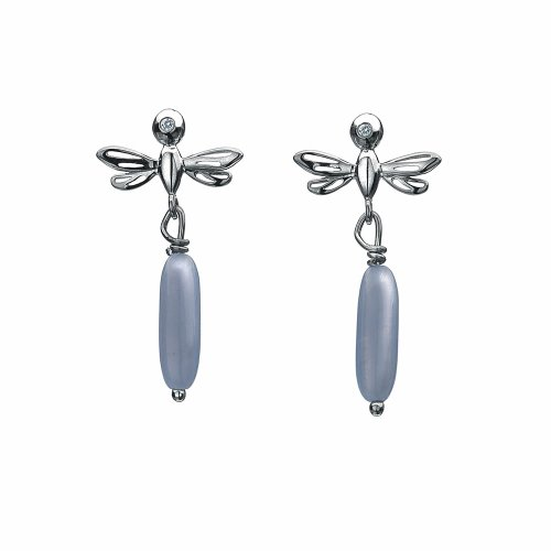 Hot Diamonds Dragonfly Earrings - Blue Lace Agate
