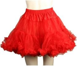 Charades Costumes - Layered Tulle (Red) Adult Petticoat, Red, One-Size