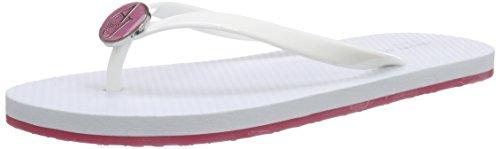 Armani JeansC55F132 - Sandali a Punta Aperta Donna , Bianco (Weiß (BIANCO - WHITE 1C)), 36