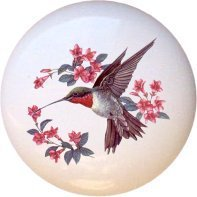Ceramic Knob - Hummingbird #710 -
