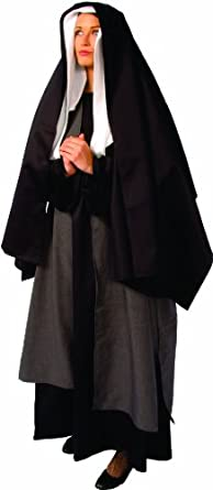 Alexanders Costumes Mary Mother Of Jesus, Black, One Size
