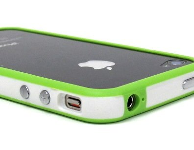 White and Green Premium Bumper Case for Apple