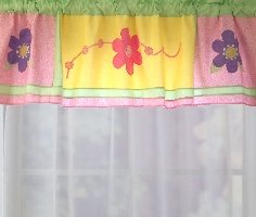 Bright and Trendy Flower Valance