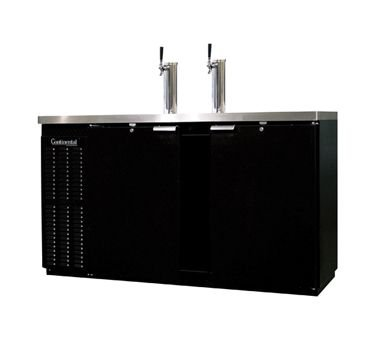 "69"" Double Draft Shallow-Depth Direct Draw Beer Dispenser - Continental Refrigerator KC69S"
