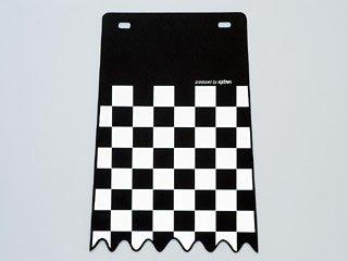 キジマ(Kijima) フェンダーフラップ チェッカー ブラック 200x288 206-9056