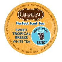 The Coffee Mixs 6 K-cup Sampler Celestial Seasonings Sweet Tropical Breeze White Perfect Iced Tea Discontinued Iced Tea Delicious by The Coffee Mix, Keurig, K-cups, Tullys, Deidrich,  Grove Square, Millstone, Folgers, Green Mountain, Timothys, Gloria Jean