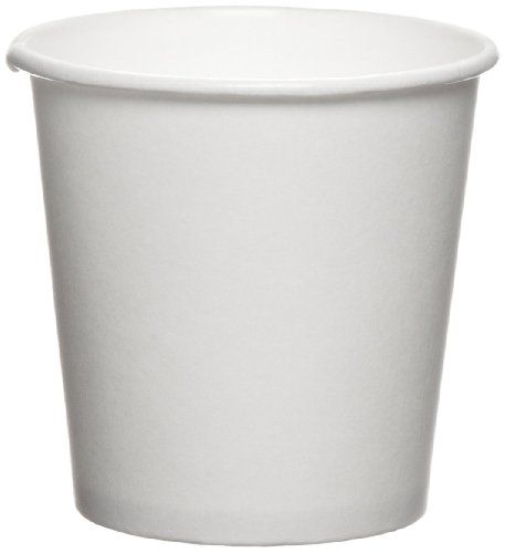 SOLO 374W-2050 Single-Sided Poly Paper Hot Cup, 4 oz. Capacity, White (Case of 1,000)