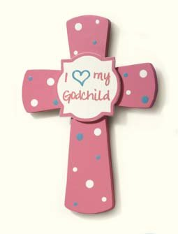 I (Heart) my Godchild Cross- Pink - 1