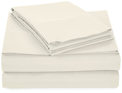 Discover Bargain AmazonBasics Microfiber Sheet Set - Twin, Cream