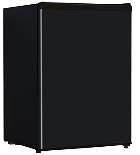 midea WHS-95RB1 Compact Single Reversible Door Refrigerator and Freezer, 2.6 Cubic Feet, Black