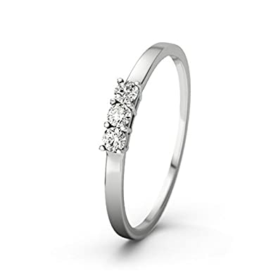 21DIAMONDS Women's Ring Mollie Ct Brilliant Cut Diamond Engagement Ring, 18ct White Gold Engagement Ring
