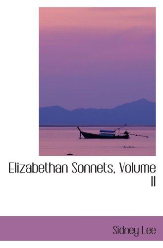 Elizabethan Sonnets, Volume II PDF