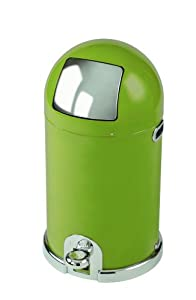 Typhoon Capsule Gloss Olive Green Steel Body 33ltr Kitchen Bin
