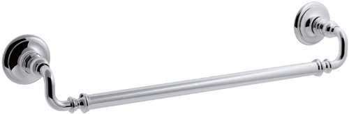 KOHLER K-72567-CP Artifacts 18 In. Towel bar, Polished Chrome