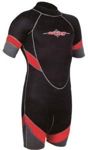 "Osprey 36.5"" Mens Shortie Wetsuit Short, Long in Red"