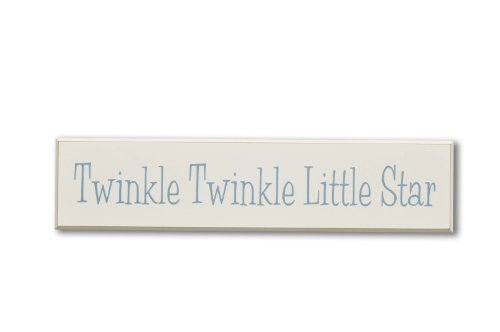 Homeworks Etc Twinkle, Twinkle Little Star, Do You Know How Loved You Are Wood Sign, Ivory/Blue