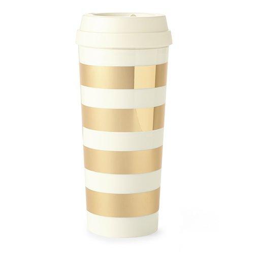 kate spade new york Thermal Mug - Gold Stripe