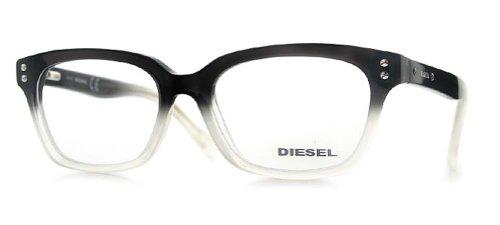 Diesel DL5037 005 Plastic Eyeglasses Black & Clear Fade Optical Frame