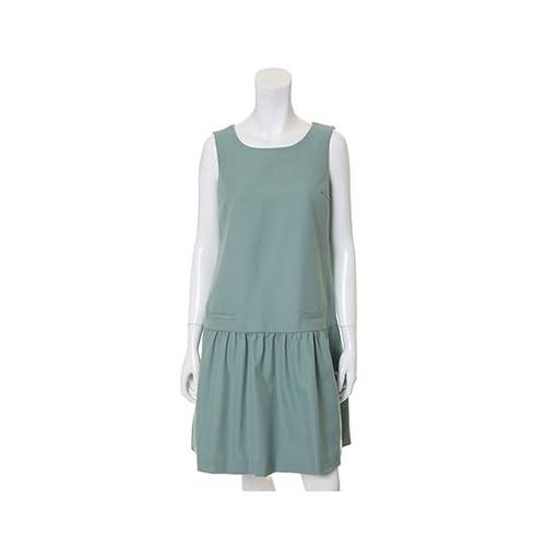 (クリアインプレッション)Clear Impression 切り替えデザインジャンパースカート エメラルドグリーン 01