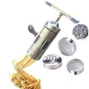 ステンレス製回転式押パスタマシーン 自宅で簡単に楽しく麺作り