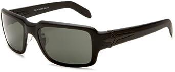 Sutro Men's Fisk Polarized Rectangular Sunglasses,Satin Black Frame/Hi.E Grey Polarized Lens,one size
