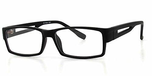 Soho 1001 In Matte Black Designer Reading Glass Frames ; Demo Lens