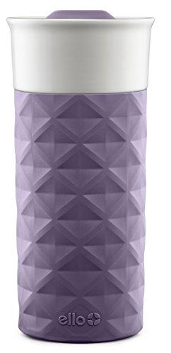 Ello Ogden BPA-Free Ceramic Travel Mug with Lid, Deep Purple, 16 oz (Dishwasher Slider compare prices)