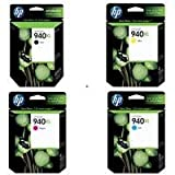 Hewlett Packard HP 940XL Four Pack Black And Colors INK Cartridge Set