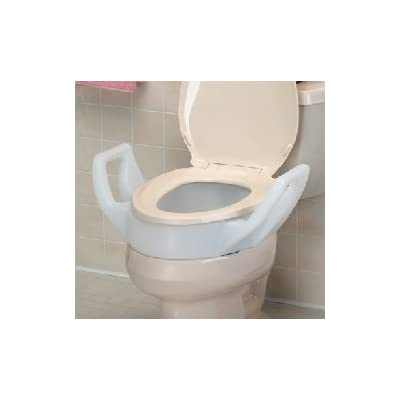 Improving Lifestyles Raised Toilet Seat Riser with Arms,fit Inbetween Toilet Bowl and Toilet Seat