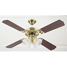 Westinghouse 7812165 Crusader 42 Inch Ceiling Fan, Polished Brass Finish